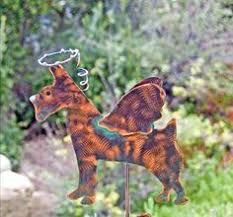 Sheet Metal Garden Art - corgi angel copper pet memorial lawn ornament metal yard art