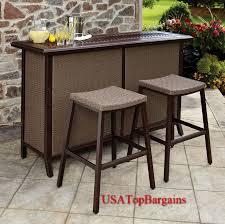 Aluminum Patio Bar Set Elegant Patio Bar Set With Regard To Inviting Daily Knight