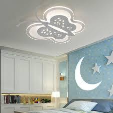 luminaire chambre bébé simple moderne enfants lit de chambre led acrylique papillon