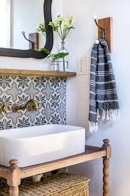 globally inspired bathroom u2014 iron u0026 twine