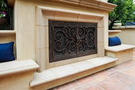Arched Fireplace Doors by Outside Fireplace Doors Fireplace Door Guy