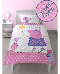 Peppa Pig Toddler Duvet Cover Peppa Pig Happy Single Duvet Cover And Pillowcase Set Bedroom