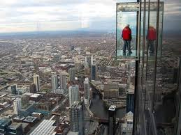 willis tower chicago transparent balcony on 103 floor skyscraper the sears tower chicago