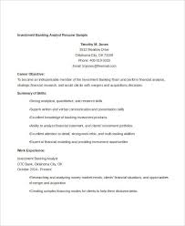 Sample Of Banking Resume by Banking Resume Templates In Word 22 Free Word Format Download
