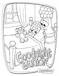 veggie tales coloring pages goodnight junior coloringstar