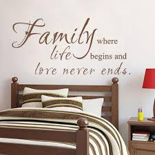 wall decal wall decal family where life begins and love never