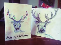 how to make a deer christmas card in watercolor snapguide