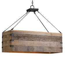 wooden plank hanging light