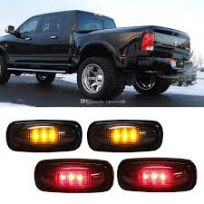 led side marker lights 4x led fender bed side marker lights smoked lens amber redfor