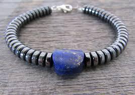 energy bracelet mens images Men 39 s lapis lazuli bracelet hematite bracelet lapis jpg