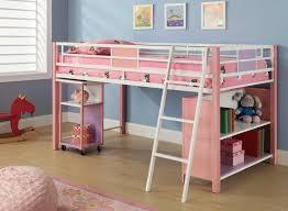 twin loft bed with desk and storage metal u2014 modern storage twin