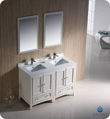 50 inch double sink vanity 48 fresca oxford fvn20 2424aw traditional double sink bathroom