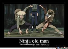 Normal Meme - ninja old man because normal ninja are too mainstream meme picture