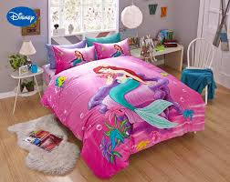online buy wholesale mermaid bedroom set from china mermaid pink disney cartoon mermaid ariel printed bedding sets for girl s bedroom decor cotton bedspread sheet covers