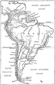map of and south america black and white heritage history south america peeps at many lands by edith a