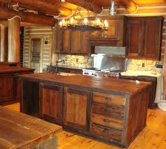 Distressed Kitchen Cabinets Pictures by Custom Made Reclaimed Wood Rustic Kitchen Cabinetscorey Morgan For
