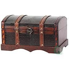 vintiquewise tm leather wooden chest trunk kitchen