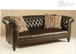 Chesterfield Tufted Leather Sofa by Decor Colorado Tufted Leather Sofa With Futuristic Style For