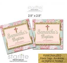 baptism favor tags baptism favor tags botanical floral gold glitter cake pop tags