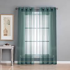 Blue Window Curtains Blue Sheer Curtains Drapes Window Treatments The Home Depot