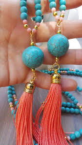 turquoise coloured necklace images I love the colours of this necklace it is so summery and pretty jpg