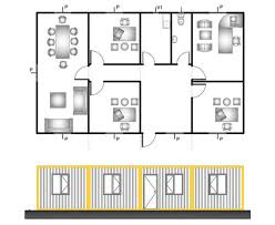 administration office floor plan bauhu prefabricated flat pack container cabin accommodation office