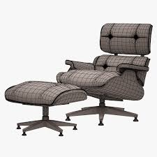 3d asset lounge chair and ottoman charles eames cgtrader