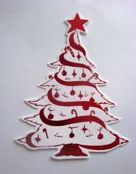 christmas tree die cut christmas lights decoration
