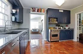 blue painted kitchen cabinets home design ideas