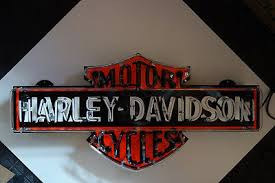 harley davidson lighted signs kamisco porcelain neon sign collectibles