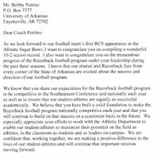 wholehogsports petrino letter of agreement