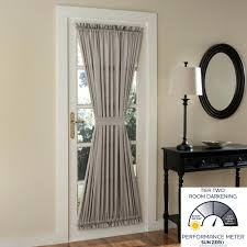 Burlap Curtains Target Amazon Com Sun Zero Barrow Energy Efficient Door Panel Curtain