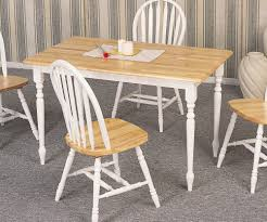 country butcher block oak and white finish wood dining table country butcher block oak and white finish wood dining table
