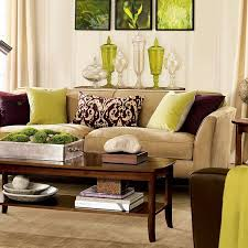 livingroom decoration lime green and brown decor ideas for the living room