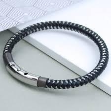 steel leather bracelet images Men 39 s industrial steel and leather bracelet by penelopetom jpg