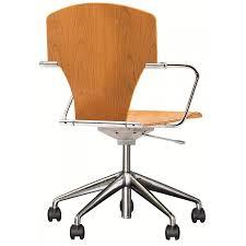 fauteuil de bureau en bois pivotant chaise bureau roulettes