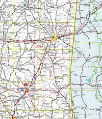 Alabama Time Zone Map by Interstate Guide Interstate 59