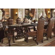 120 inch dining table versailles 120 inch dining table cherry oak acme furniture