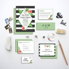 diamond frame wedding invitation suite