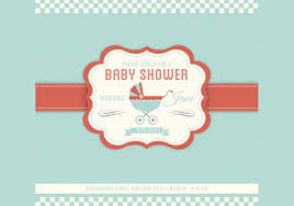 baby shower vector invitation template free vector