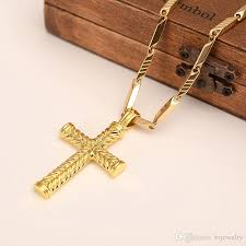colored cross necklace images Gold color cross necklace for women men gift jesus crucifix jpg