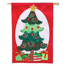sequined christmas tree applique house flag u2013 kitty hawk kites