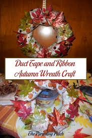 autumn wreath duct and ribbon autumn wreath craft parenting patch