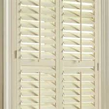 wooden shutters interior home depot faux wood shutters plantation the home depot pertaining to window