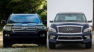 lexus vs infiniti brand 2016 toyota land cruiser vs 2016 infiniti qx80 youtube