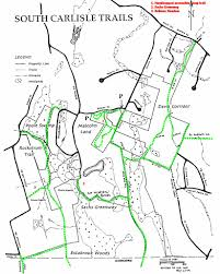 Property Line Map Carlisle Trails Committee South Carlisle Trails