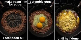 the 99 cent chef scrambled eggs u0026 refried beans video recipe