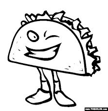 fast food coloring pages 1