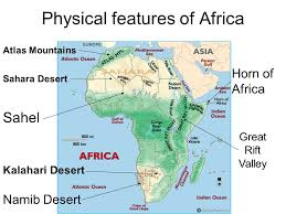 africa map deserts physical geography of africa ppt