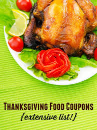 thanksgiving food coupons extensive list